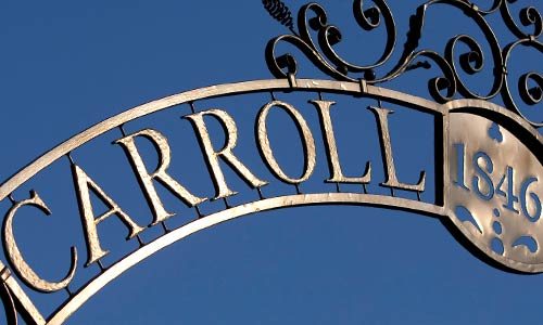 close up image of carroll arch