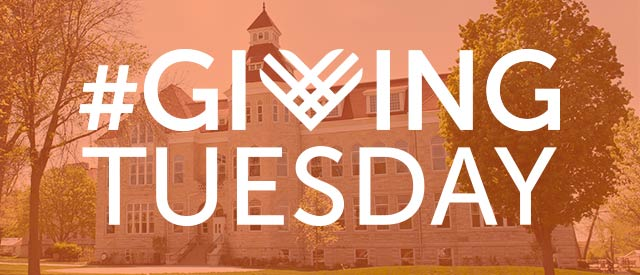 giving tuesday logo over main hall