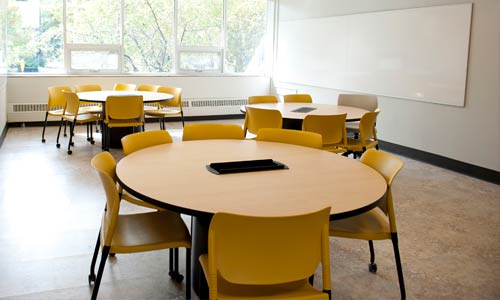 Photo of Bergstrom Hall classroom
