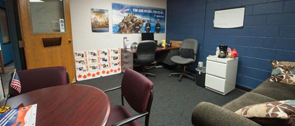 Photo of military veteran student lounge