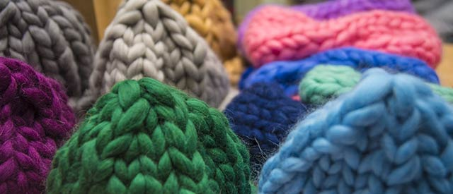 colorful knit hats