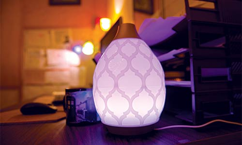 aromatherapy diffuser in faculty office